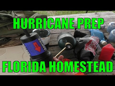 Prepping my Homestead for a Major Hurricane
