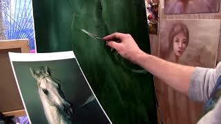 Как нарисовать лошадь уроки живописи южакова а16 1