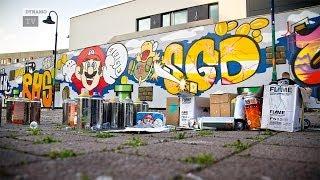 Keine Langeweile bei Graffiti und Fußball