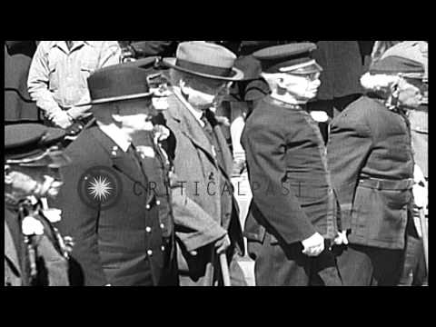 Surviving Union and Confederate Civil War veterans on parade in Washington DC, an...HD Stock Footage