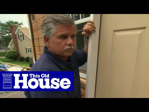 How to install a fiberglass entry door this old house for Entry door installation