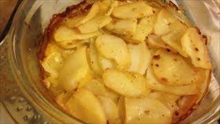 Рецепт Гарнир Запеченая картошка со сливками