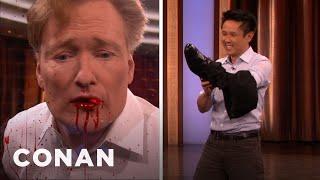 Steven Ho Kicks Conan's Teeth Out - CONAN on TBS