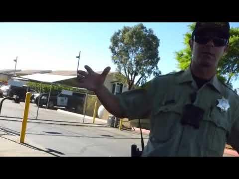 Ramona Sheriff Station ( 2 DEPUTY'S  COME OUT ) 1st Amend Audit