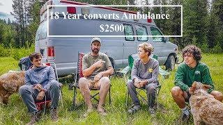 Overland Camping  - 18 Year Old Converts Ambulance