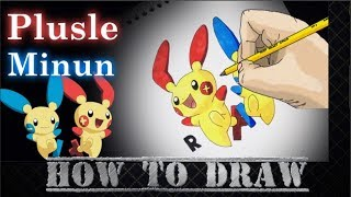 How To Draw Plusle and Minun Step By Step