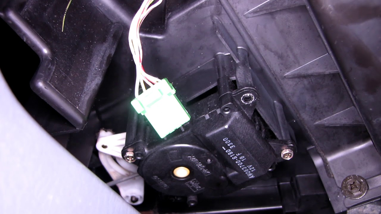 Honda Pilot Heater Ac Mode Actuator Motor And Cabin Filter Replacement Cleaning Blower Motor Part1 Youtube