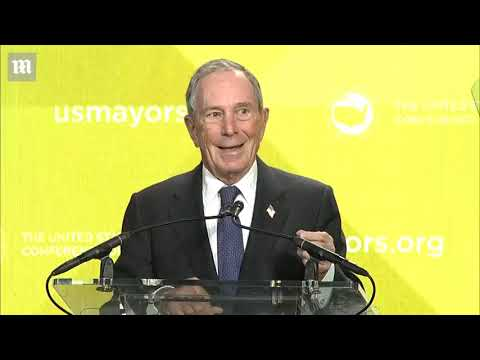 Bloomberg Slams 'incompetent' Trump During Mayors Conference