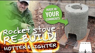 How To Make A Concrete And Perlite Rocket Stove