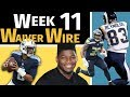 Week 11 Waiver Wire Pickups - 2018 Fantasy Football