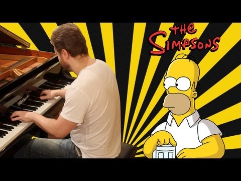 Simpsons Theme on piano - The Simpsons Opening Song
