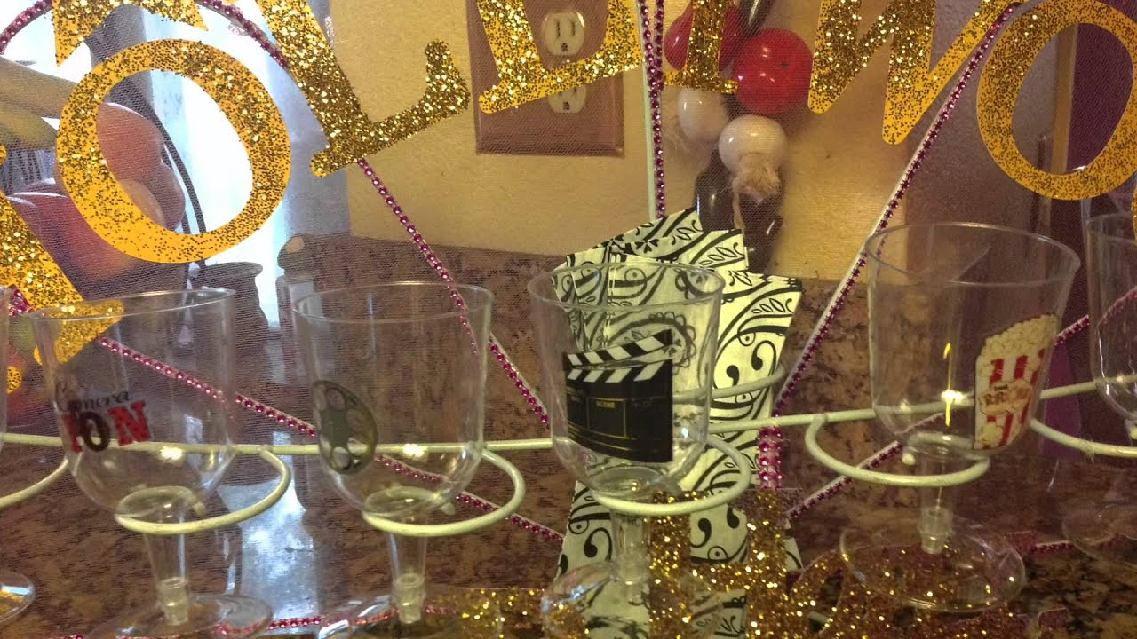 Hollywood Theme Decorations Hollywood Birthday Party Decorations Youtube