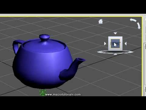 3D Studio Max - Tutorial - How to set the views in the Viewports and how to use the View Cube