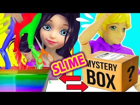 Cambio dela Caja Misteriosa de Slime con Guantes | MISTERY BOX SLIME SWITCH UP Challenge con GUANTES