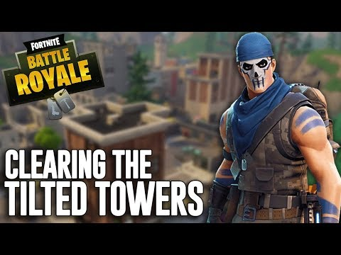 Clearing The Tilted Towers!! Fortnite Battle Royale Gameplay - Ninja