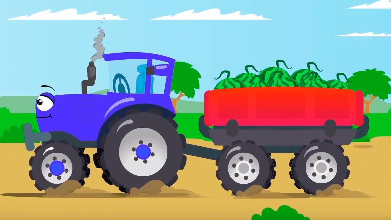 Mavi Traktör Arılardan Kaçıyor - Cars Stories - Çocuklar için Çizgi Film