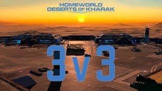 Deserts of Kharak: Huge 3v3 Macro Battle.