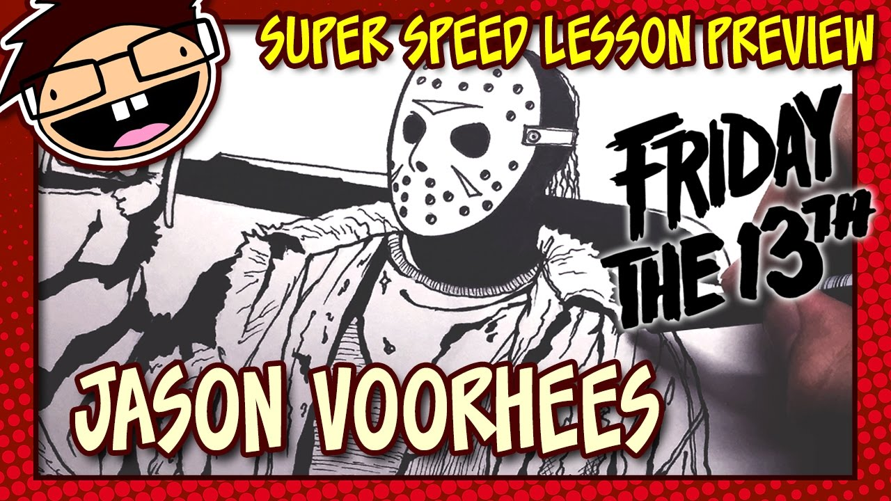 Lesson Preview: How To Draw Jason Voorhees (friday The 13th)  Happy  Halloween!