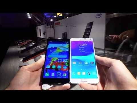 Lenovo P90 vs Galaxy Note 4 video