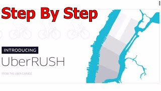 UberRush walking in New York step by step The First delivery