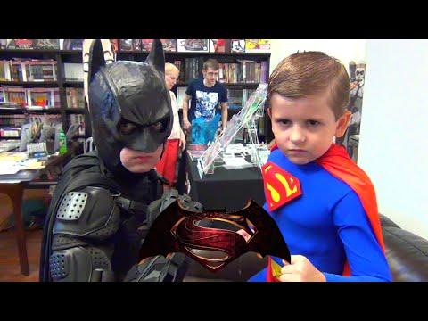 Little Batman & Little Superman Take Over Comic Book Store! Super_Hero_Kids Real Life DC Parody