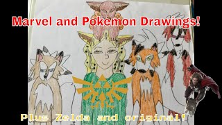 Marvel And Pokemon Drawings! (2019)