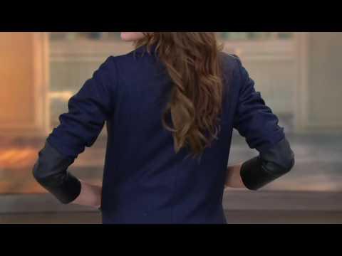 GK George Kotsiopoulos Herringbone Boyfriend Blazer on QVC