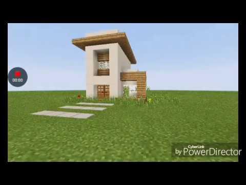 Minecraft a casa moderna mais f cil de construir for Casa moderna facil minecraft tutorial