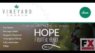 Preview Vineyard Church - One Page Church PSD Template