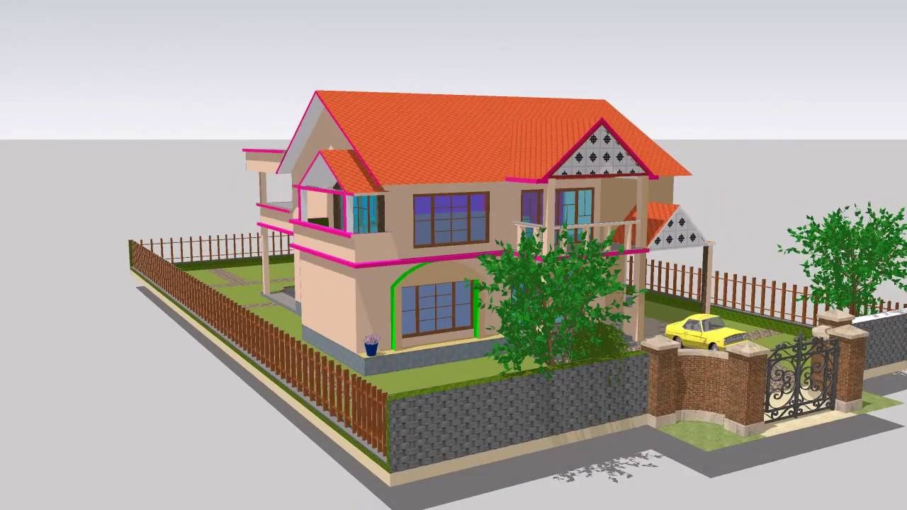 simple house sketch up youtube. Black Bedroom Furniture Sets. Home Design Ideas