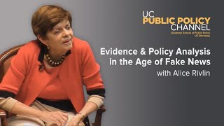 Evidence and Policy Analysis in the Age of Fake News with Alice Rivlin