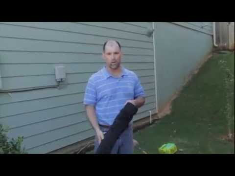 Flex Drain Perforated Pipe With Sock Youtube