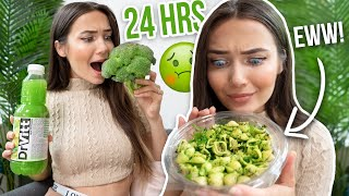 I ONLY ate GREEN food for 24Hours!