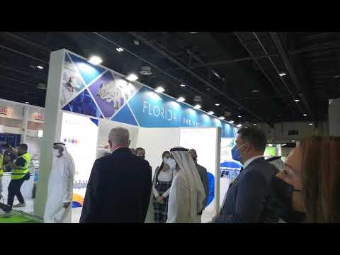 Sheikh Ahmad Bin Saeed Al Maktoum & Surgical Theater at Arab Health 2021 in Dubai 21.06.2021