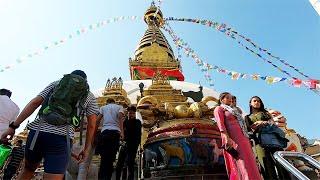 "MBT: Bảo tháp Swayambhunath""Chùa khỉ"" tại Kathmandu Nepal"