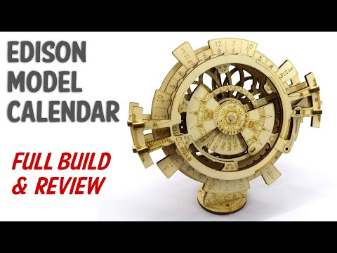 Edison Model Calendar - Perpetual Calendar Wooden Construction Kit - Build & Review