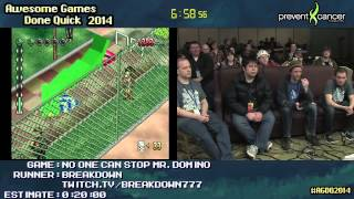 "No One Can Stop Mr. Domino! :: SPEED RUN (0:12:51) by Breakdown #AGDQ 2014 ""WTF Japan"""