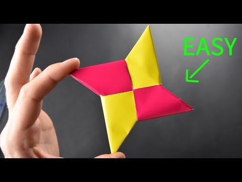 How To Make a Paper NInja Star - Simple But Awesome Origami Craft