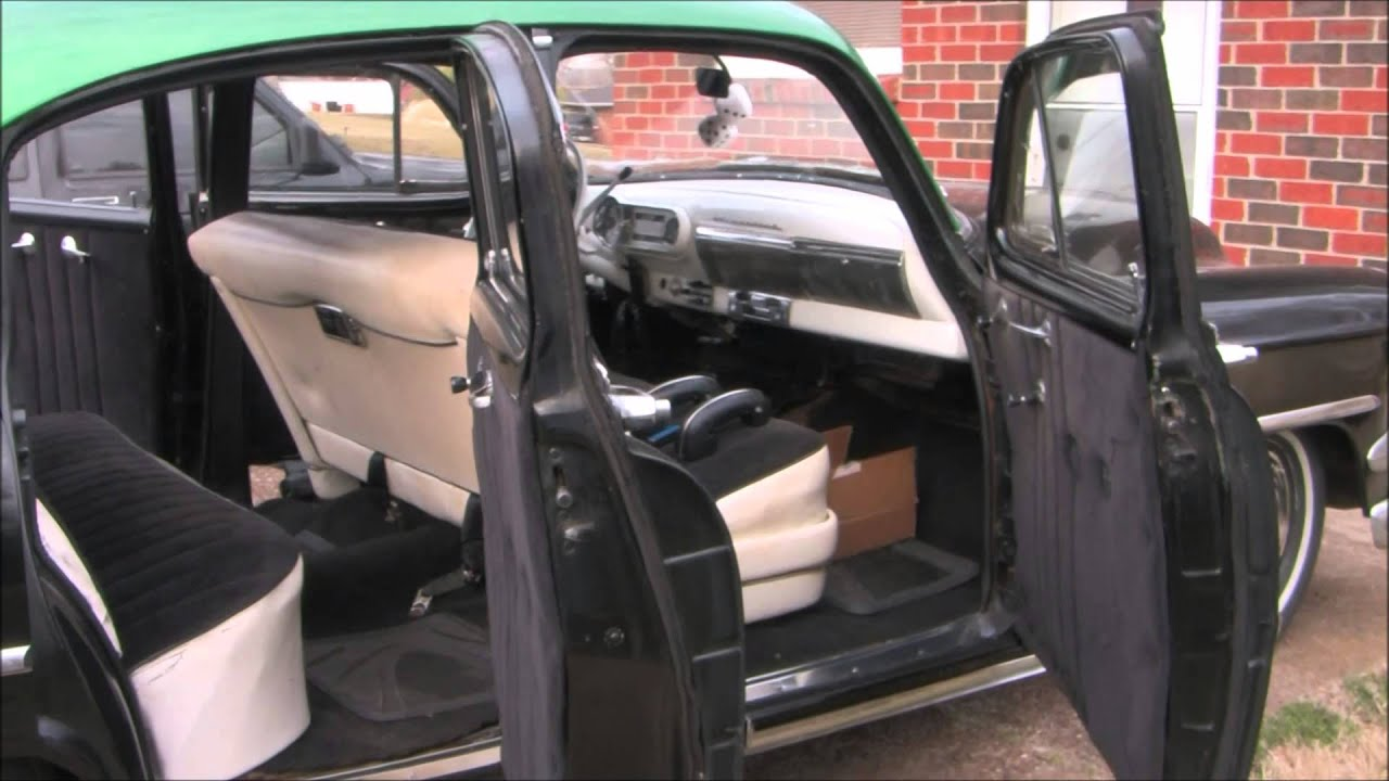 1954 chevy 4dr headliner sunvisors and windlace upholstery youtube. Black Bedroom Furniture Sets. Home Design Ideas