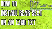 Golf cart king ezgo txt rear flip back seat kit installation video 1139 sciox Images