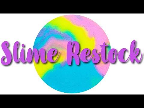 FINALLY A BREAD SLIME!!//trill.slime restocking video Sept  21, 2018