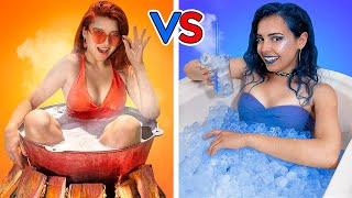 تحدى الساخن vs البارد / بنت نارية vs بنت ثلجية