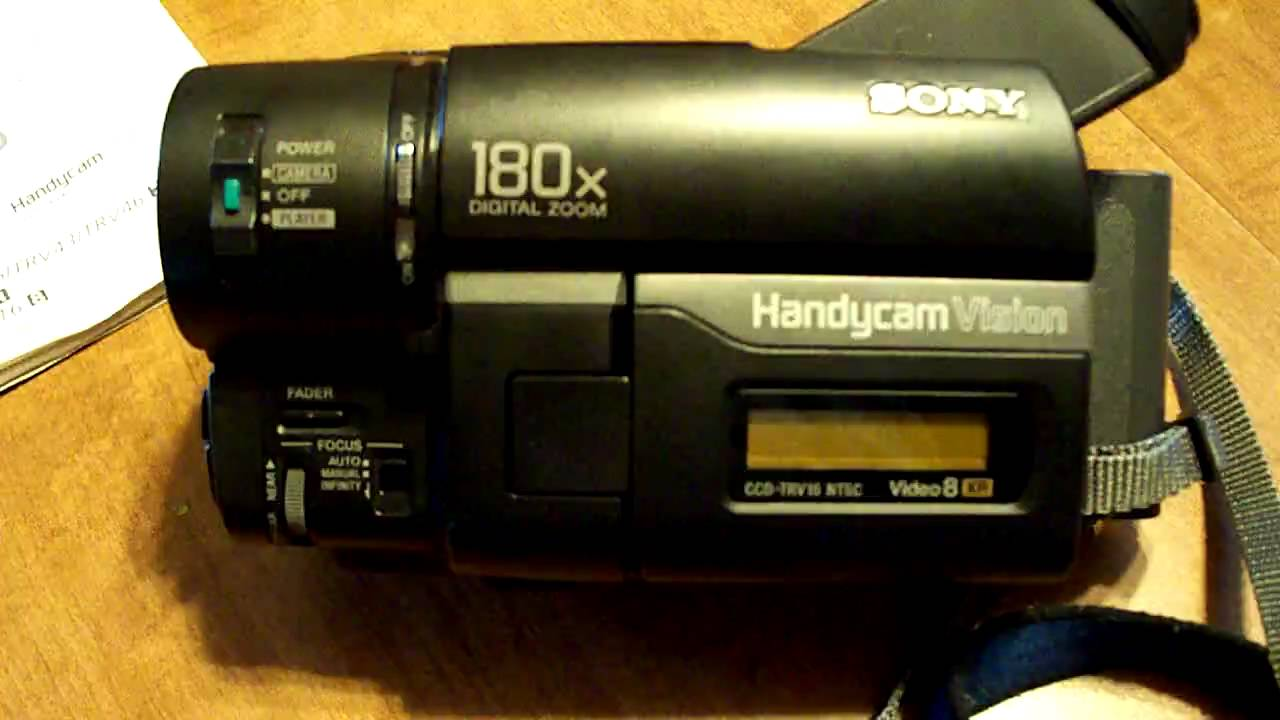 sony ccd trv16 hi8 8mm handycam camcorder video camera youtube rh youtube com sony ccd-trv16 ntsc manual Sony Ccd- Tr