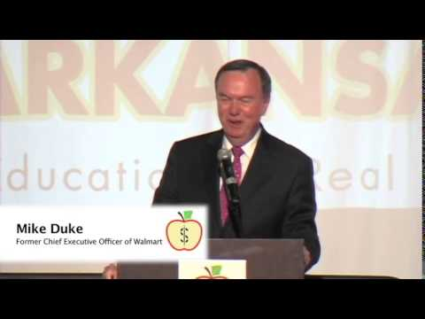 Mike Duke's acceptance speech of the Excellence in Free Enterprise Award 2014