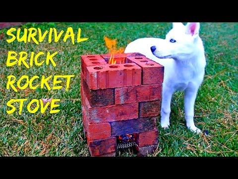 Brick Rocket Stove - Survival tips #35