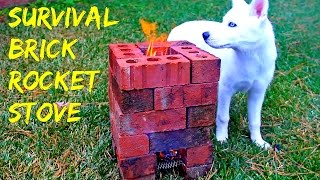 Brick Rocket Stove - Survival tips #35