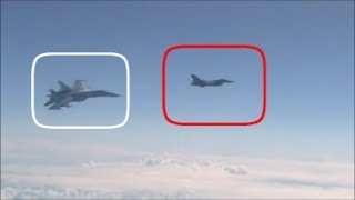 Russian Su-27, Forces Away NATO F-16 After It Approaches The Russian Defence Minister's Plane. thumbnail