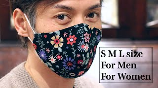 Easiest 3D Mask S M L size Really Can Make Easily Face Mask Sewing Tutorial