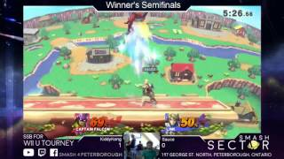 Smash Sector #1 WSemis Kiddy Kong (Diddy Kong, Captain Falcon) Vs Sauce (Link, Ike)