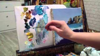 Алла Белопесоцкая видеоурок живопись маслом море Alla Belopesotsky tutorial oil painting sea